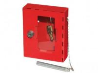 skříňka požární na klíč 150x120x40mm ČRV + kladívko
