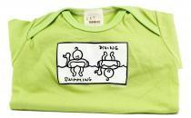 Dětské body Mayaka s krátkým rukávem Swimming/Diving - zelené Vhodné pro věk 3-6 měsíců - VÝPRODEJ