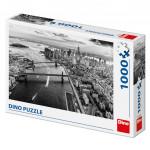 Puzzle New York Manhattan černobílé 66x47cm 1000 dílků