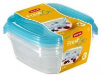 dóza FRESH&GO čtvercová 0,8l plastová (3ks)