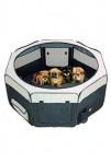 Box sklád. nylon štěně 116x116x48cm grey/black KAR 1ks