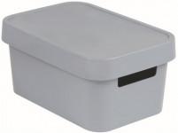 box úložný INFINITY 26,8x18,6x12,4cm s víkem, plastový, ŠE