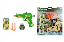 Pistole s přísavkami + doplňky plast 18cm - mix barev