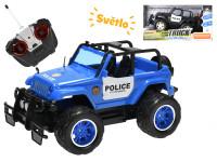R/C auto policie terénní 24 cm 27 MHz plná funkce na baterie se světlem - mix barev