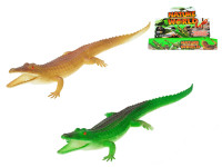 Krokodýl pískací 30 cm - mix barev