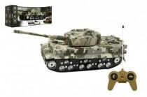 Tank RC plast 25cm na setrvačník se zvukem se světlem na baterie