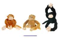 Opice plyšová 64 cm natahovací ruce/nohy - mix barev