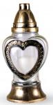 Svíčka sklo Srdce - 80 g (925BZ5673)
