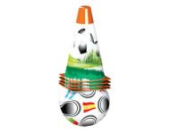 Fotbalové kužely 18 cm 4 ks s míčem 12 cm