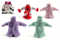 Šaty/Oblečky kabátek na panenky v sáčku 21x30cm - mix variant či barev - VÝPRODEJ