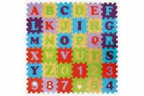 Pěnové puzzle abeceda a čísla mix barev 36ks - mix variant či barev