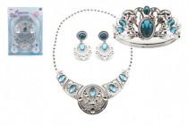 Sada krásy plast korunka + náhrdelník + naušnice