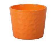 Obal na květník NEAPOL keramický oranžový lesklý d15x13cm