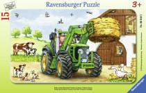 Ravensburger puzzle Traktor na statku 12 dílků