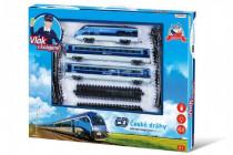 Sada vlak České dráhy s kolejemi 23ks na baterie se zvukem se světlem