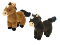 Kůň plyšový 24 cm - mix barev