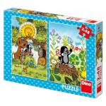 Puzzle Krtek 2x48 dílků 18x26cm
