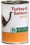 Nature's Protection Cat konz.Kitten krůta/losos 400 g