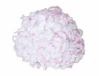 Květ voskový CHRYZANTÉMA bílý a lila 14cm