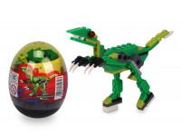 Stavebnice Wange – Dinosaur ve vejci (Tyrannosaurus Rex - zelený)