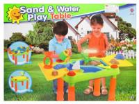 Stolek na písek zahradní s bábovkami plast