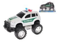 Auto terénní policie 18 cm na setrvačník - mix barev