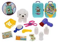Zvířecí obchod/batoh 2 v1 s mazlíčkem 11 cm a doplňky 16 ks v kufříku
