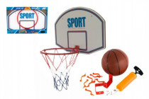 Basketbalový koš + míček s pumpičkou kov 61cm