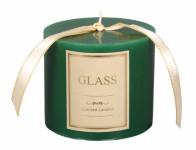 Svíčka GLASS VÁLEC vánoční d10x8cm