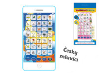 Vzdělávací telefon mobil plast česky mluvící na baterie - mix barev