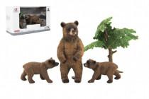 Zvířátka safari ZOO 10cm sada plast 4ks medvěd 2 druhy