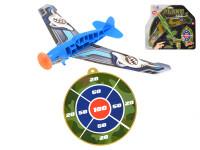 Letadlo házecí 24 cm s terčem - mix variant či barev