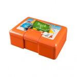 box svačinový 19,5x12,5x7cm s klick uz. s potiskem plastový - mix variant či barev