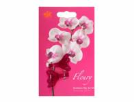 Klips FLEURY plastový fialovo růžový 4cm 2ks