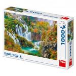 Puzzle Plitvická jezera Chorvatsko 66x47cm 1000 dílků