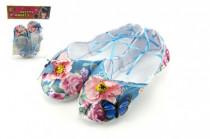 Balerínky/boty pro dívky látkové 18cm