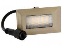 svítidlo LED zápustné 10x 6cm, 2W, IP67 teplé, do dřeva, pochozí