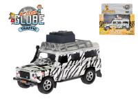Auto Land Rover safari 14 cm kov zpětný chod na baterie se světlem a zvukem