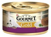 Gourmet Gold cat konz.-Savoury Cake jehně,fazolky 85 g - VÝPRODEJ