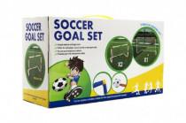 Branka fotbalová 2ks + míč plast