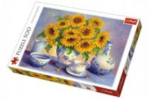 Puzzle Slunečnice malované 500 dílků 48x34cm