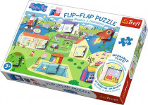 Puzzle s otevíracími okénky - Svět prasátka Peppy 36 dílků