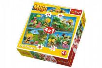 Puzzle 4v1 Dobrodružství včelky Máji