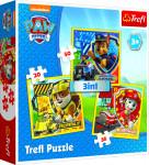 Puzzle 3v1 Paw Patrol/Tlapková patrola 20x19,5cm