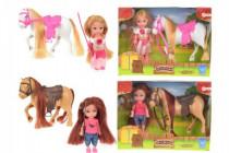 Panenka s koněm/poníkem plast - mix variant či barev
