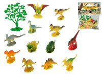 Dinosauři 6-8 cm + stromek 13 ks - mix variant či barev