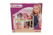 Dřevěný domeček pro panenky s přísl.
