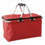 košík nákupní skládací obdélníkový 48x28x24cm Al+polyester - mix barev