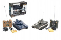 Tank RC 2ks 36cm+dobíjecí pack tanková bitva se zvukem se světlem