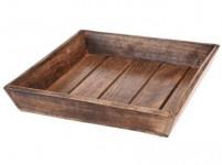 miska čtverc. 29,5x29,5x6cm dřevo